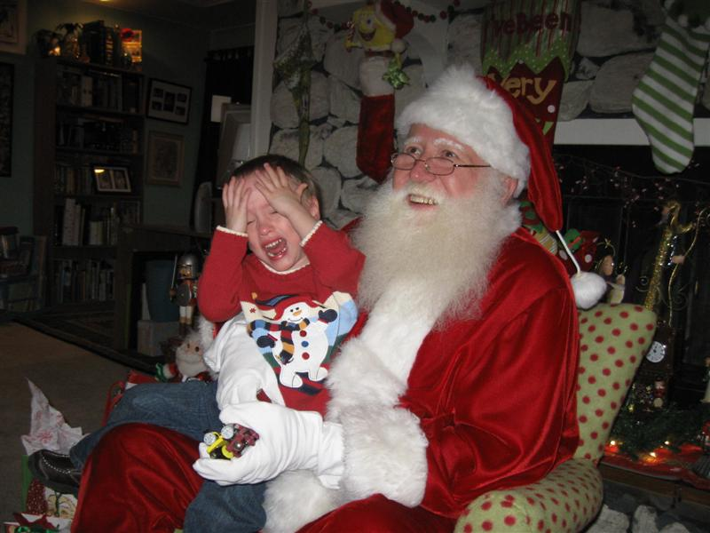 Look who is scared of Santa mod