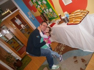 Anna and her Daddy Paul at the Father's Day Breakfast in Celbridge!