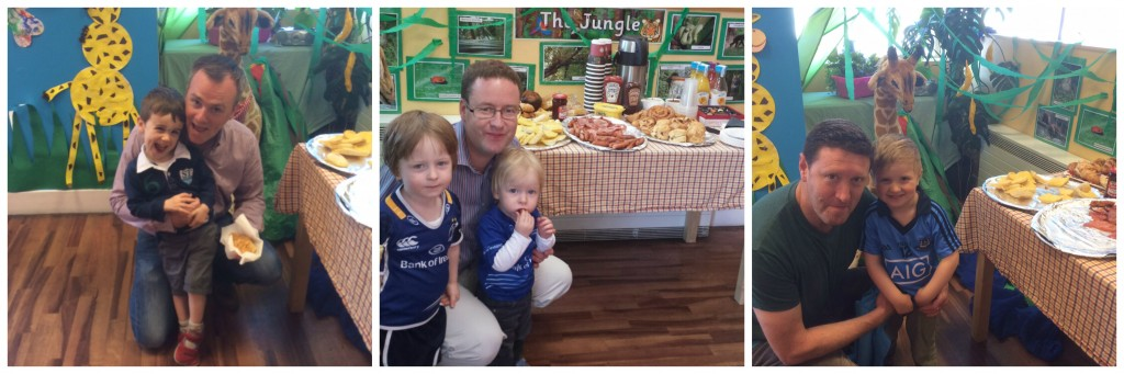 Giraffe Harcourt Road had a splendid breakfast laid out for the Dads. Here are some of our children with their Daddies on the day!