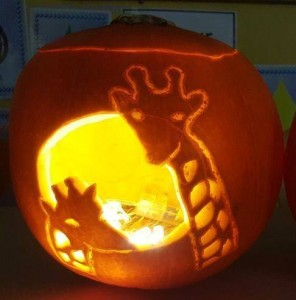 Our Carved Pumpkin Competition winner - Northern Cross
