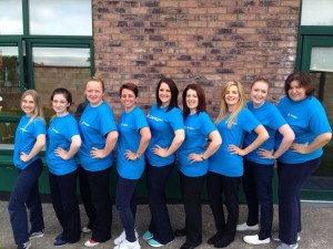 Go Team Lucan! Anastasjia, Elaine, Natalia , Carla, Tara , Gillian, Leanne, Siobhan and Anca are all set!