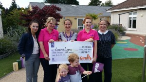 Presenting LauraLynn with our fundraising cheque