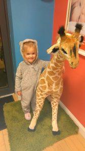 Pyjama day at Giraffe Childcare Celbrdige